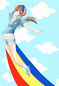 Rainbow Dash human V2 by BunnieBuns on DeviantArt