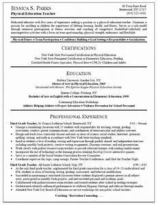 physical education teacher resume With education teacher resume