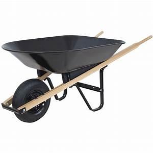 Shop Blue Hawk 4-cu ft Steel Wheelbarrow at Lowes com