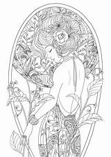 Coloring Pages Adult Adults Woman Beauty Printable Colouring Sheets Books Fairy Grown Ups Getcolorings Drawing Cute Print Getdrawings Wom Visit sketch template
