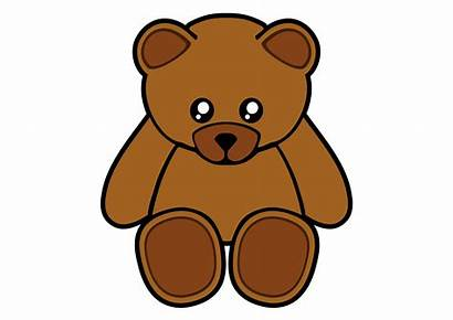 Bear Teddy Sad Drawing Cartoon Bears Clipartmag
