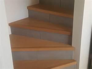 Avec Quoi Recouvrir Un Escalier En Carrelage : excellent cool escalier bimatire parquet nez de marche et contre marches carrelage with nez de ~ Melissatoandfro.com Idées de Décoration