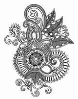Tattoo Flower Mandala Lace Drawing Drawings Sleeve Paisley Tattoos Line Draw Mandalas Half Garter Tatuajes Coloring Yahoo Patterns Results Drawning sketch template