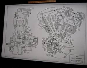 Details About Harley Davidson Shovelhead Engine Oil Map