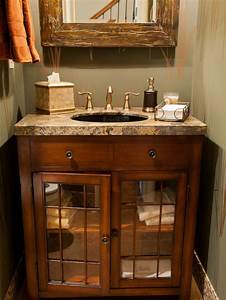 Rustic Half Bath Home Design Ideas  Pictures  Remodel And