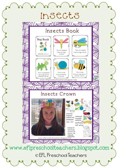 Eslefl Preschool Teachers Insects Worksheets And More For Preschool Ela