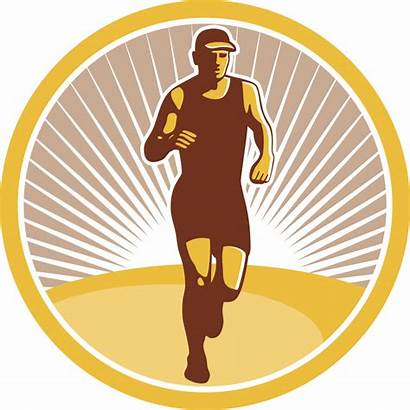 Running Clipart Marathon Circle Trail Runner Run