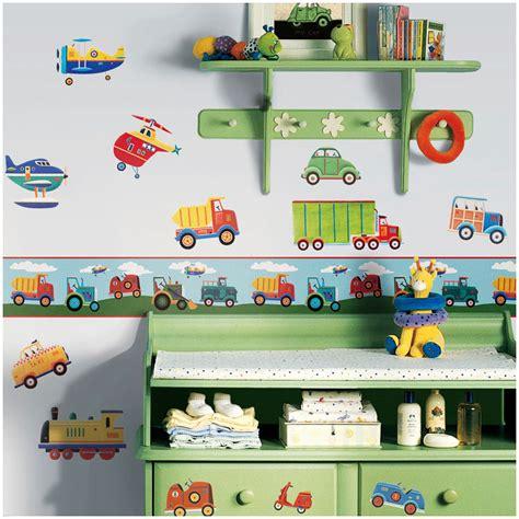 Kinderzimmer Bordüre Jungen by Bord 252 Re Transportfahrzeuge Tapeten Borte Kinderzimmer
