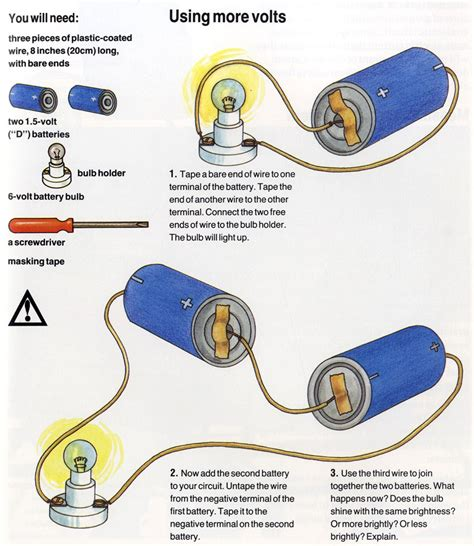 electricity for kids what does voltage mean diy projects