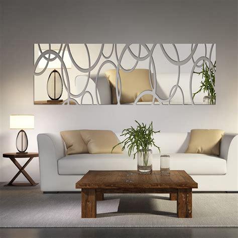 acrylic mirror wall decor art  diy wall stickers living