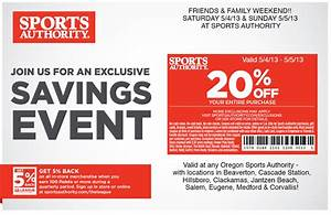 Sports Authority Printable Coupons March 2015