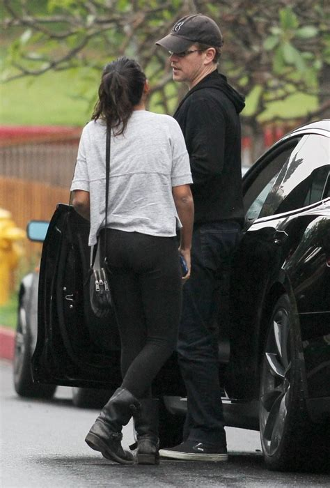 matt damon lets step daughter alexia drive   party zimbio
