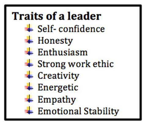 essay on characteristics of a leader