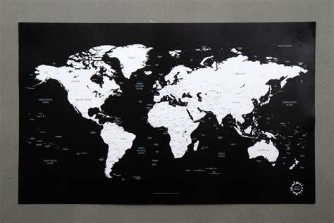 Carte Du Monde Noir Et Blanc Hd by Bg Black And White World Map Unique Design Poster