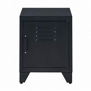 Chevet Metal Noir : camden table de chevet style industriel en m tal ~ Teatrodelosmanantiales.com Idées de Décoration