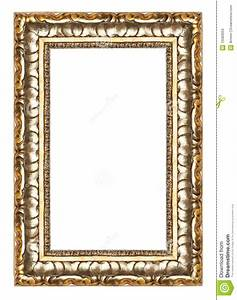 Picture Gold Frame With A Decorative Pattern Royalty Free ...