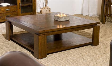 table basse contemporaine table basse carr 233 e contemporaine en bois massif 90 x 90 cm
