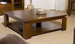 Table Basse Carrée Design : table basse carr e contemporaine en bois massif 90 x 90 cm milo ~ Teatrodelosmanantiales.com Idées de Décoration