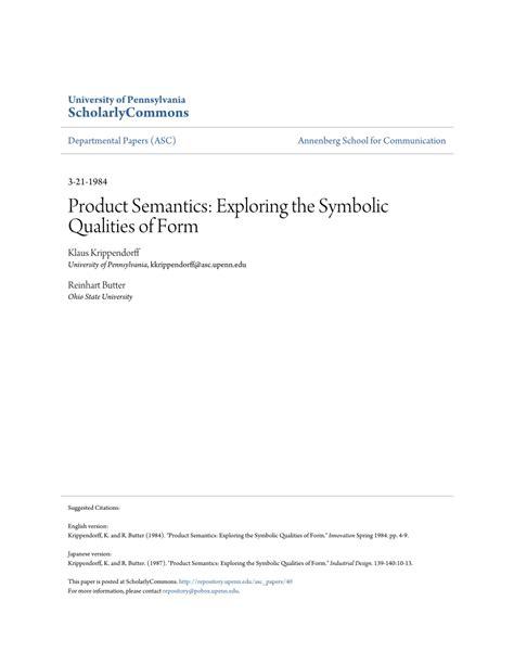 pdf product semantics exploring the symbolic qualities