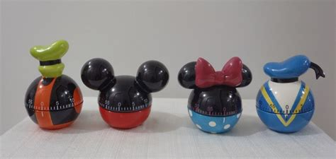 Mouse Kitchen Timer by New 2004 Disney Catalog 4 Kitchen Timers Complete Set