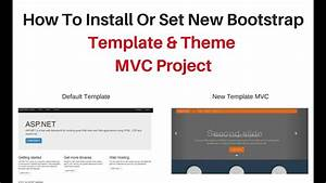 Install aspnet mvc site layout with bootstrap bundle for How to install bootstrap template
