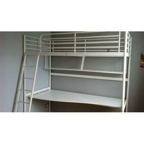 lit mezzanine blanc avec bureau lit mezzanine avec bureau ikea achat et vente