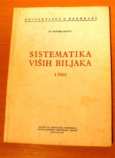 Sistematika visih biljaka,Vilotije Blecic - Kupindo.com ...