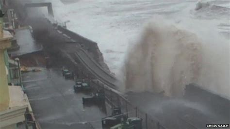 Dawlish Storm Victim 'water Coming Through Our Windows