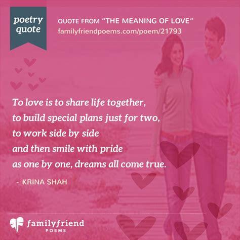 meaning  love romantic poem