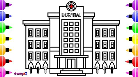 draw hospital learn color coloring book youtube
