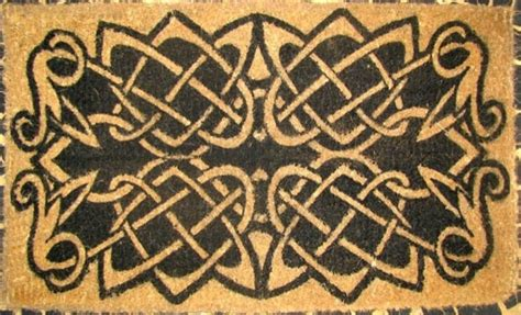 celtic doormat cocomatsnmore celtic knots design coco doormats 18 quot x 30
