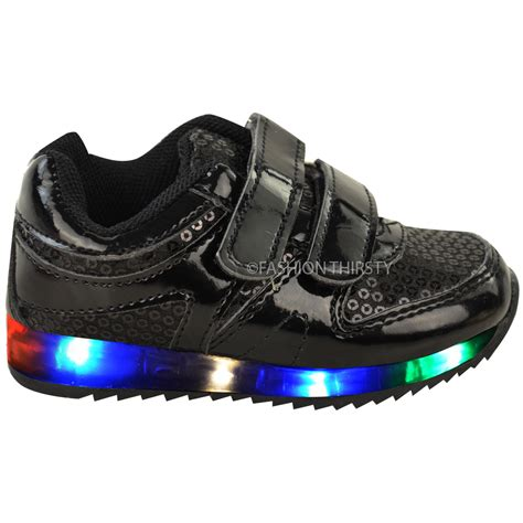 kids sneakers with lights new girls kids babies led light up trainers strappy