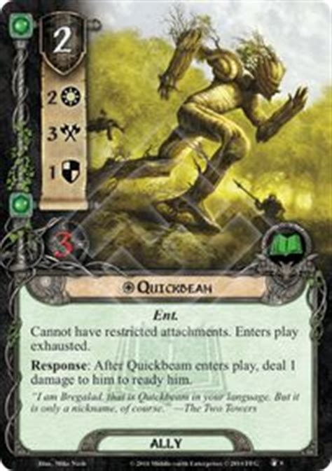 lotr lcg deck lists quickbeam the treason of saruman lord of the rings lcg