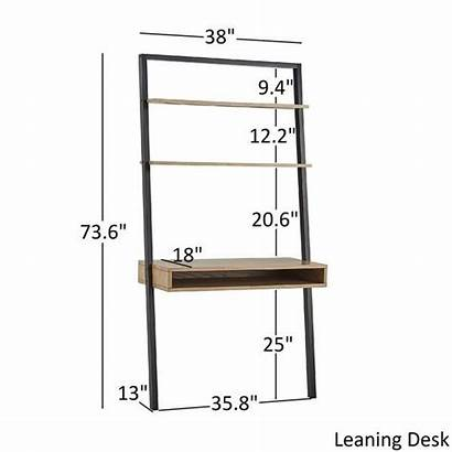 Overstock Leaning Ladder Furniture Shelves Shelf Ranell