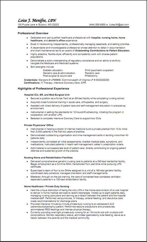 sample resume licensed practical nurse sample resume lpn nurse south florida painless breast
