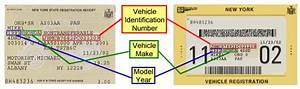 Sample registration documents for title transactions new for Ny state dmv documents