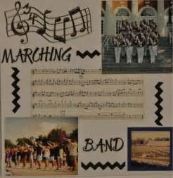 Marching Band Scrapbook Page Idea