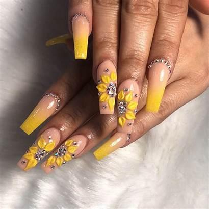 Nail Sunflower Nails Amazing Creative Polish Spring