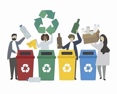 Recycling Waste Illustration Vector Clipart Vectors