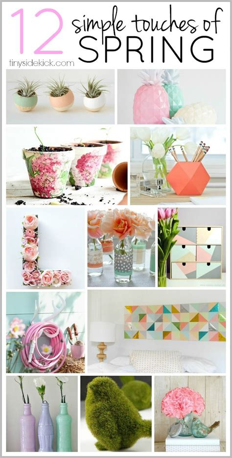 ways  add  simple touch  spring spring home