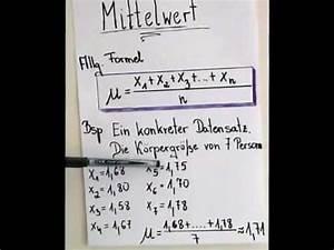Arithmetisches Mittel Berechnen : mathe mittelwert varianz standard abweichung doovi ~ Themetempest.com Abrechnung