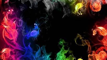 Colorful Backgrounds 3d Dark Background Desktop Rainbow