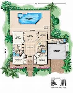 Florida, Coastal, House, Plan, With, Cupola