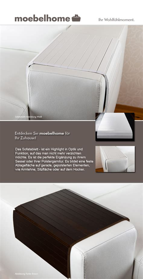Sofatablett  Hocker Sofa Couch Armlehne Ablage Tablett