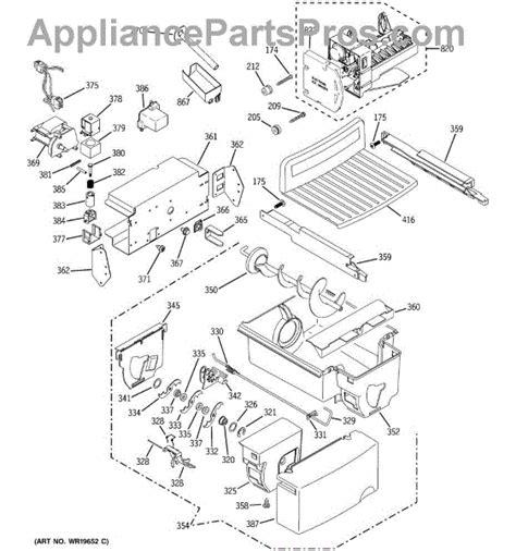 parts  ge psgsgsacss ice maker dispenser parts appliancepartsproscom