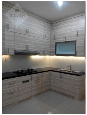 Design Kitchen Set Minimalis Modern Rumah Bu Eka Serpong