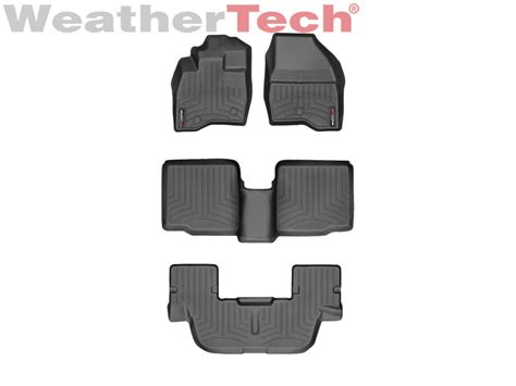 Ford Explorer All Weather Floor Mats - weathertech floor mats floorliner for ford explorer 2017