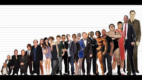 celebrity height comparison chart  subscribers special