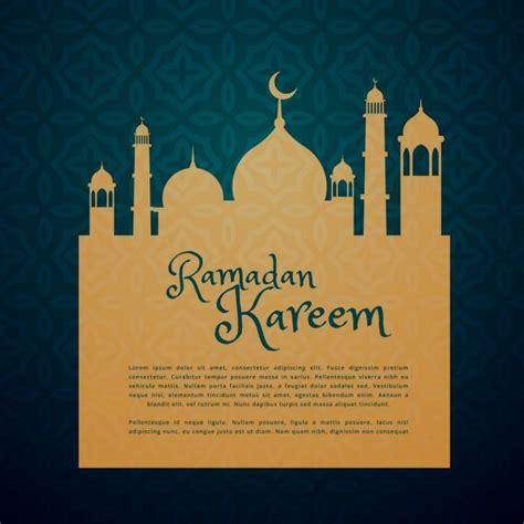 islamic festival ramadan greeting card  vector