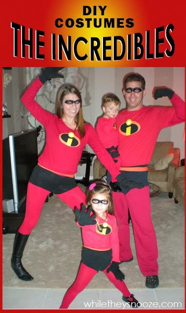 While They Snooze How To Make The Incredibles Halloween